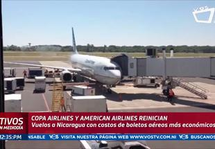 Copa Airlines y American Airlines regresan a Nicaragua