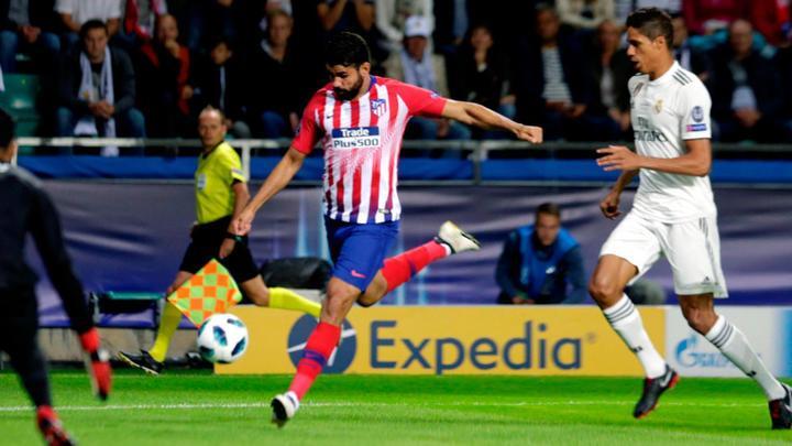 Diego Costas anoto dos goles en la victoria del Atlético