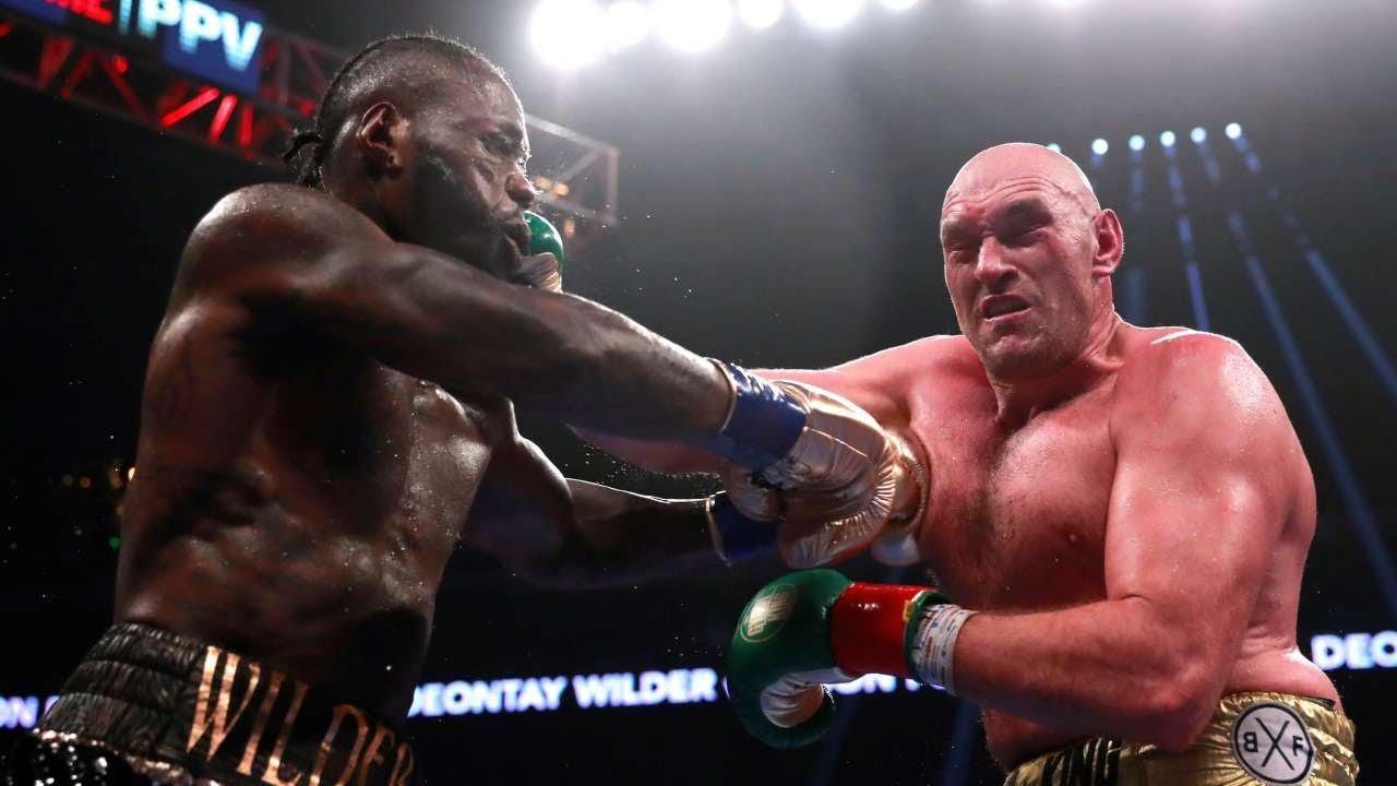 Momentos del primer combate entre Fury y Wilder