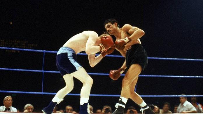 Alexis Arguello en uno de sus memorables combates.