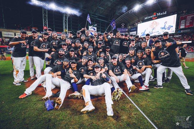 Astros campeones de la liga americana.