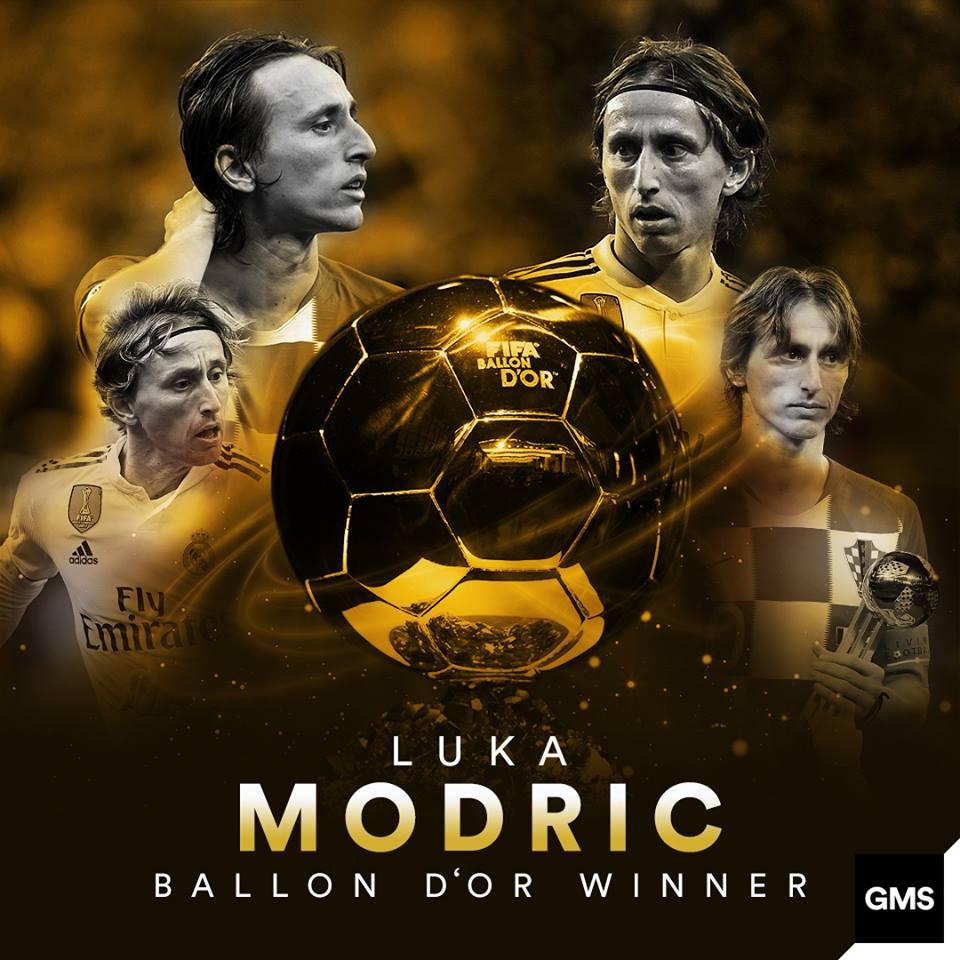 Modric, el flamante Balón de Oro 2018