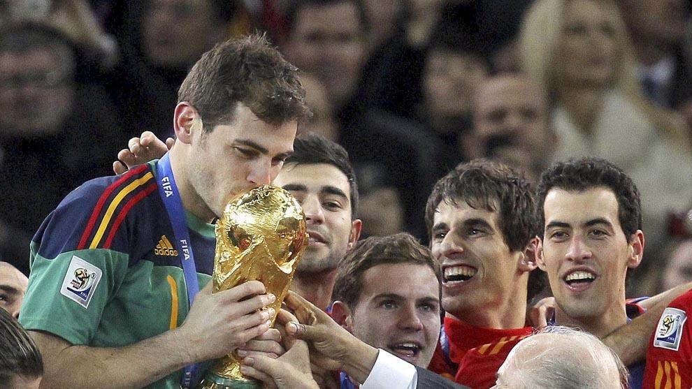 Casillas campeón del mundo en 2010