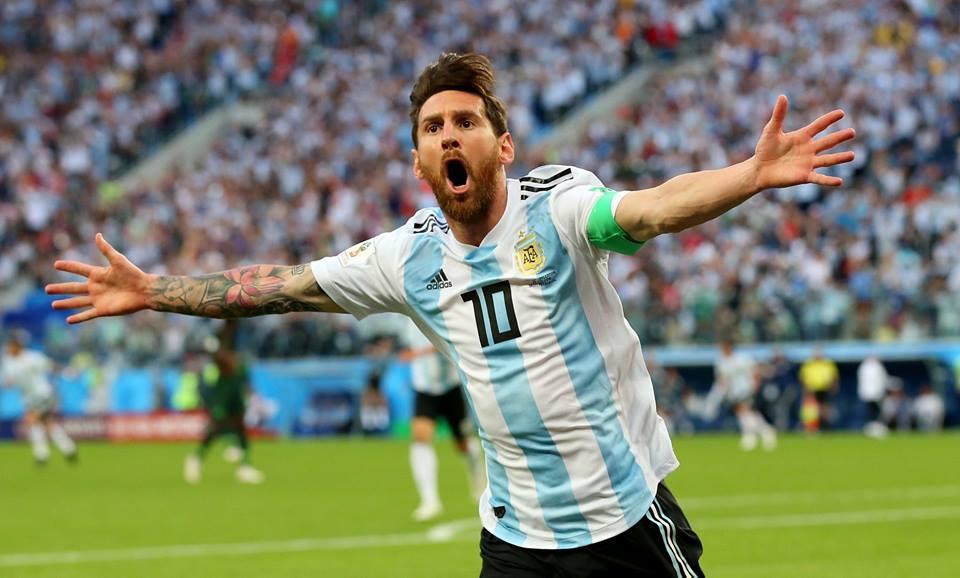 Messi anotó su primer gol del mundial Rusia 2018.