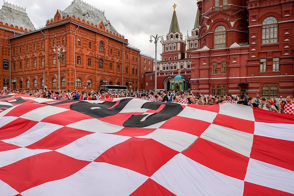 Aficiondos de Croacia celebran pase a la final del mundial