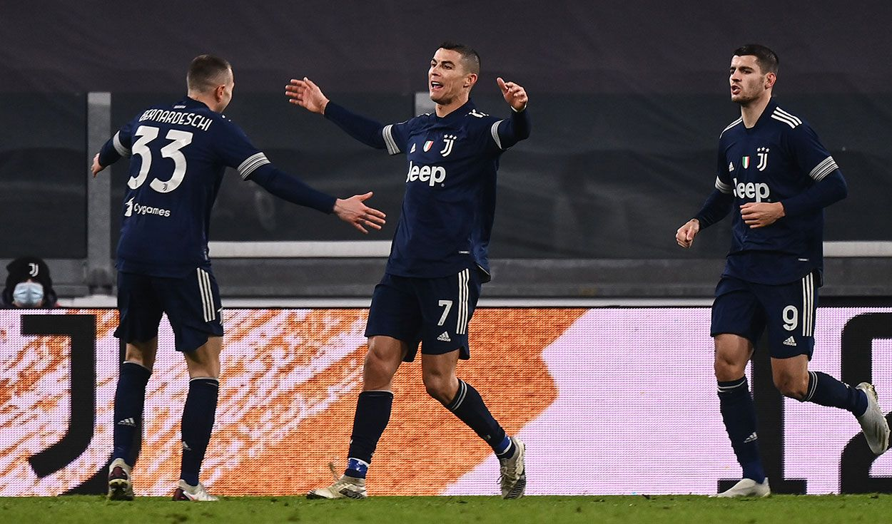 CR7 celebra su gol.