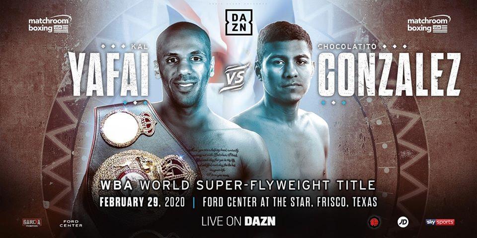 González vs Yafai el 29 de febrero
