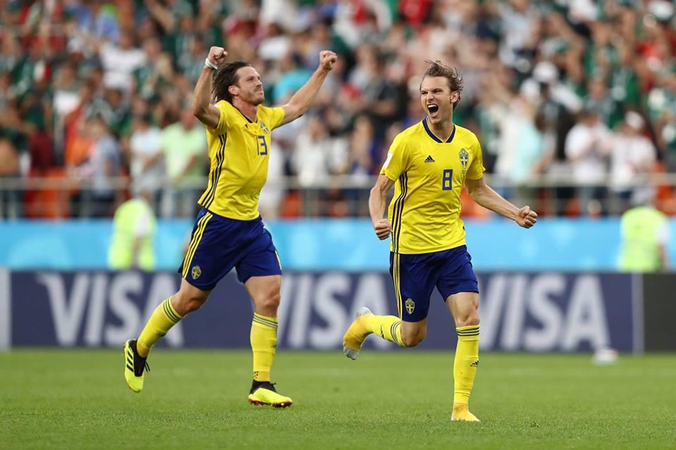 Suecia se quedó con el primer lugar de su grupo