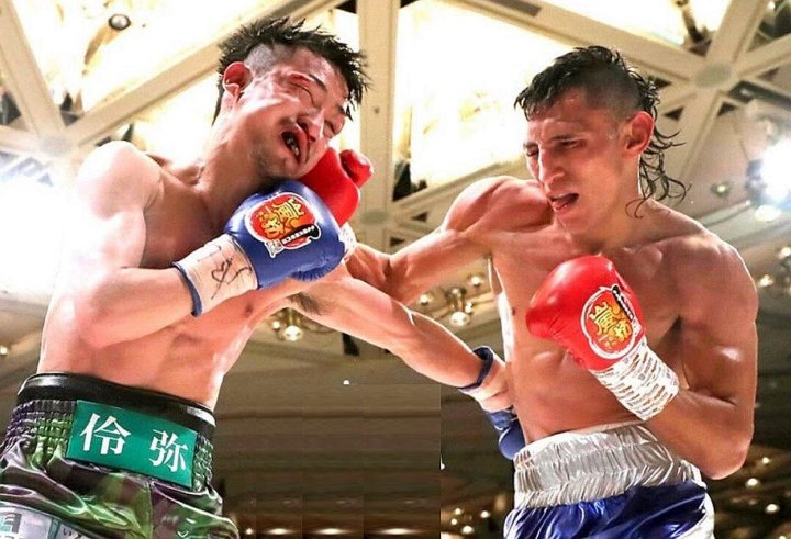 Alvarado en una de sus peleas internacionales