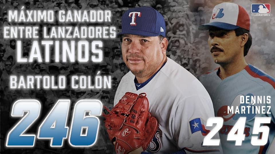 Bartolo Colón el latino más ganador ganador de Grandes Ligas