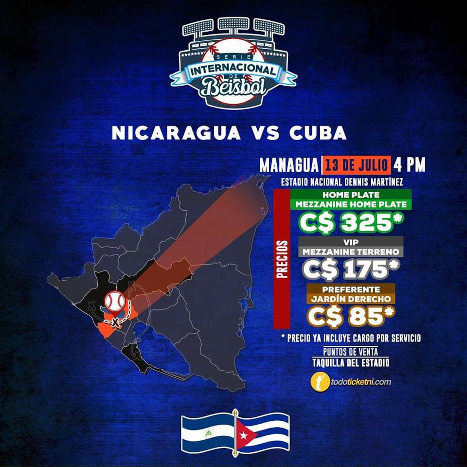 Precios de las entradas en el estadio nacional Dennis Martínez