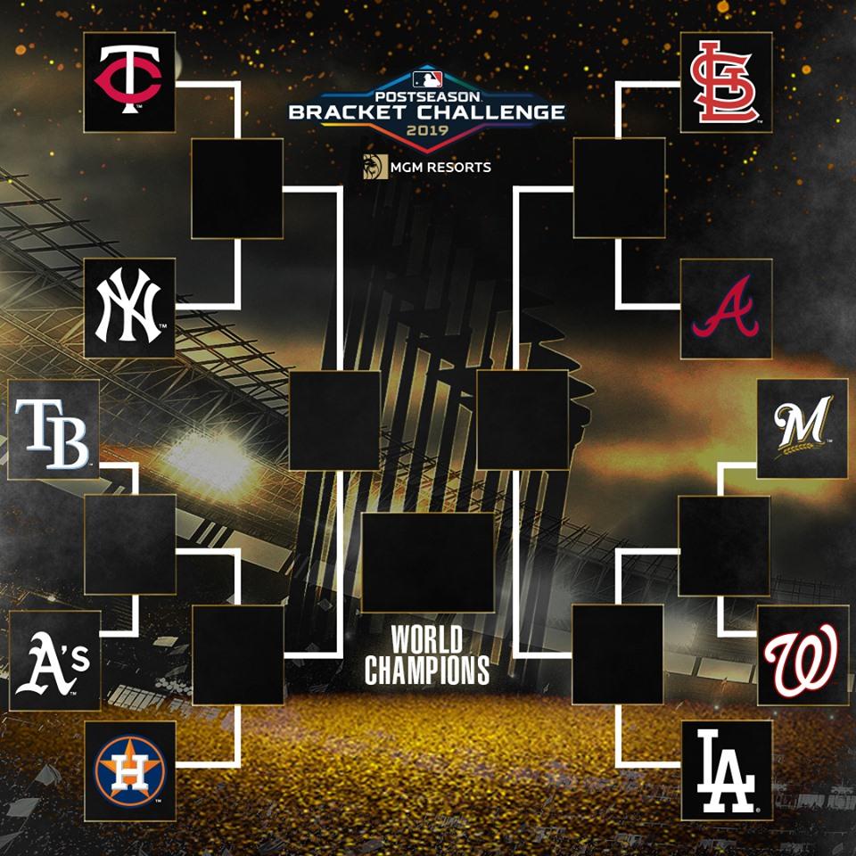 El cuadro de eliminatorias para esta postemporada en MLB.