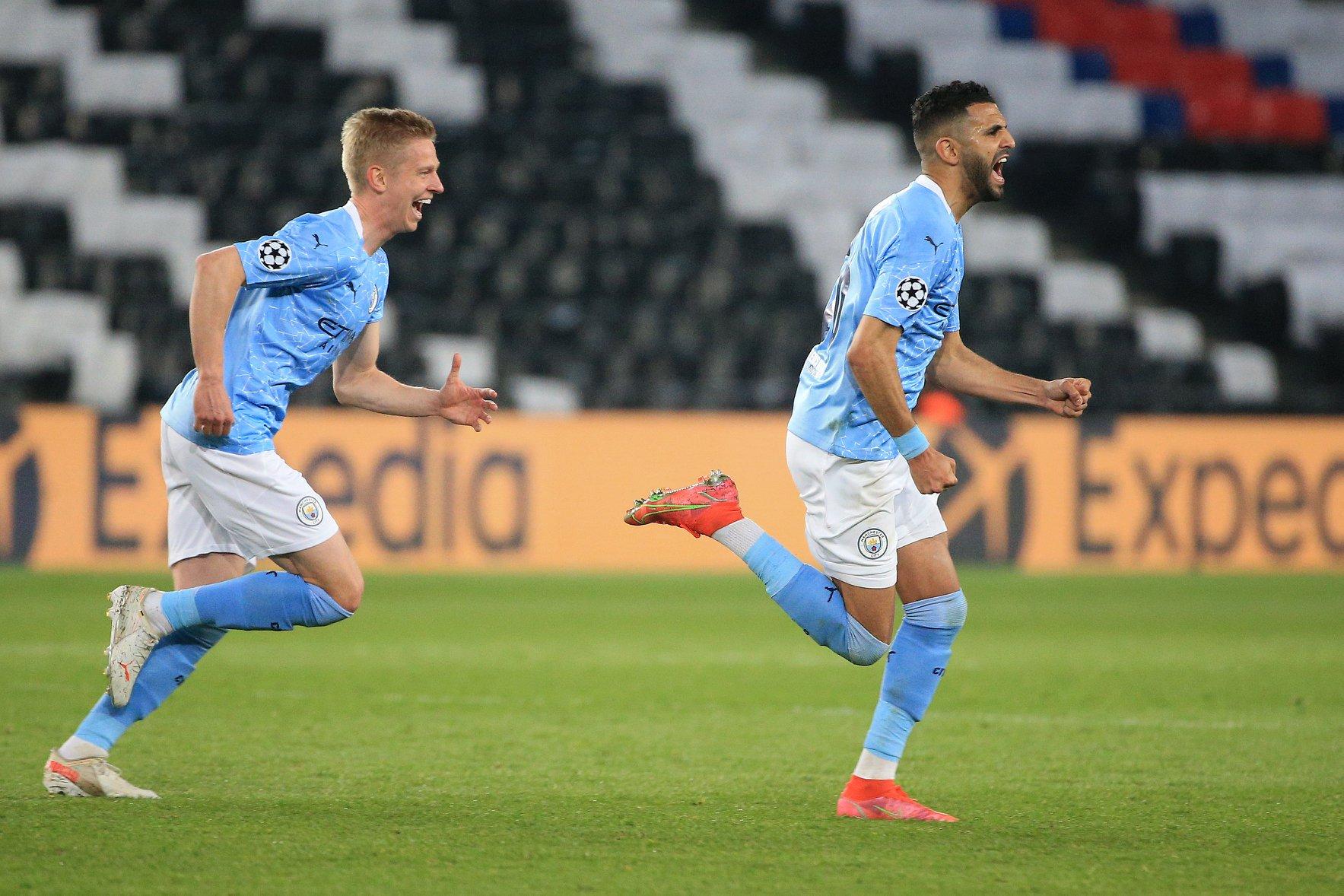 Jugadores del Manchester City celebran la victoria sobre PSG