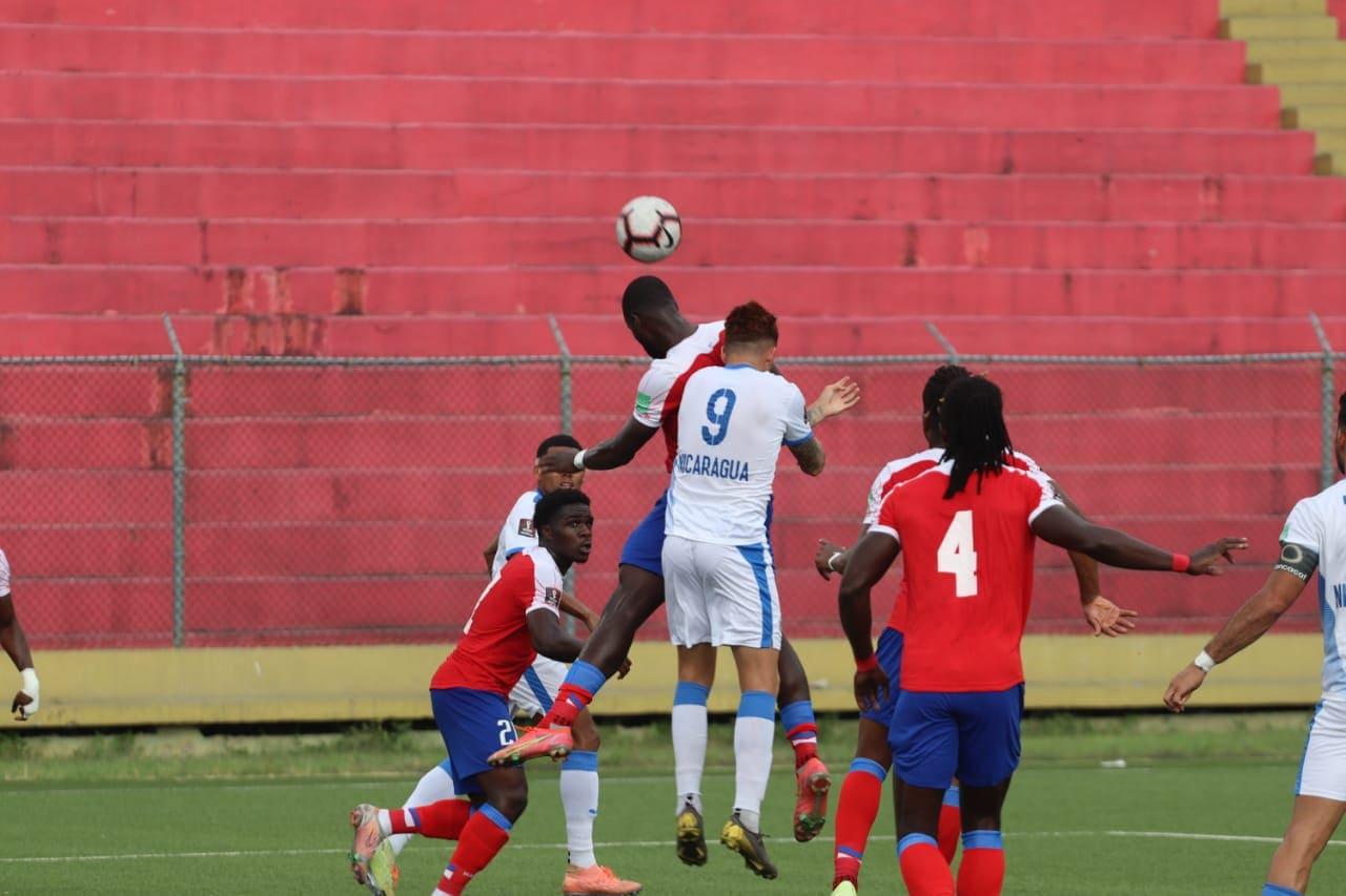 Momentos del partido Haití vs Nicaragua.