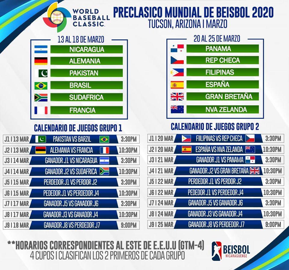 Calendario de Juegos del Preclásico Mundial