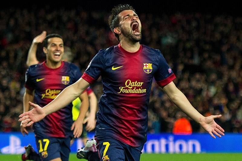 El Guaje en su etapa como goleador del FC Barcelona.