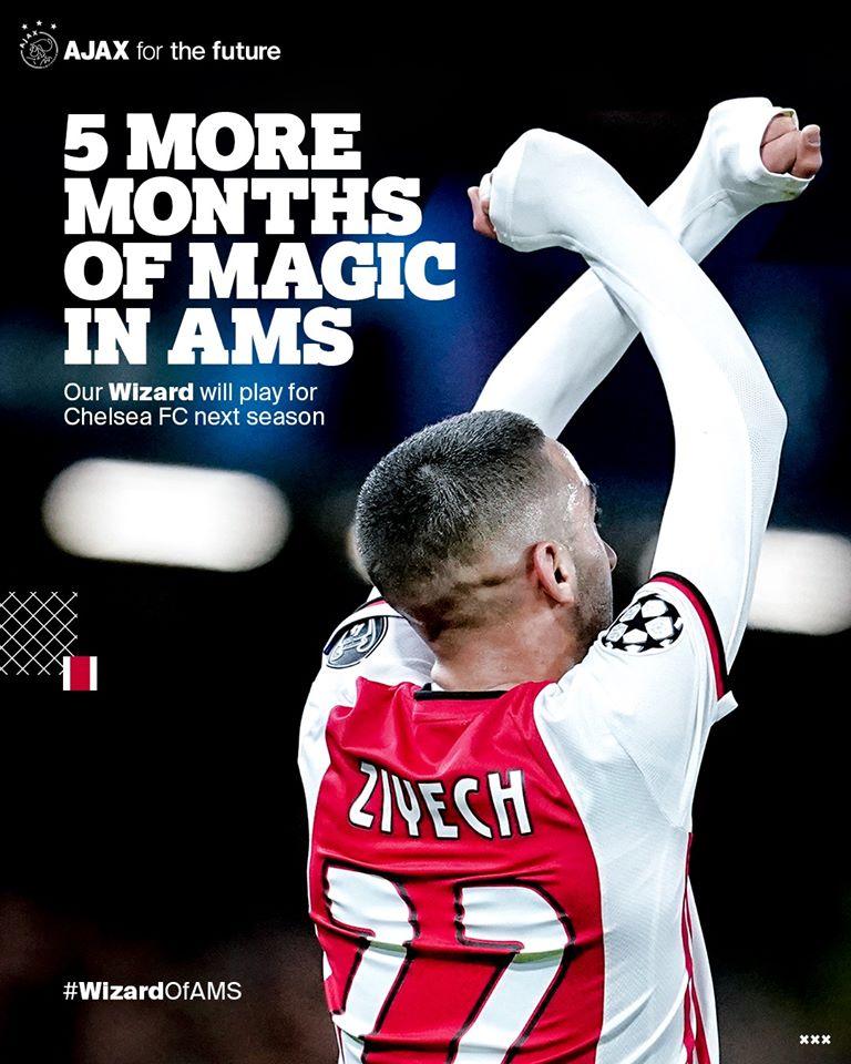 Ajax anuncia la compra de Ziyech que llegará a la Premier League