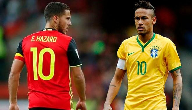 Hazard y Neymar las figuras de sus selecciones