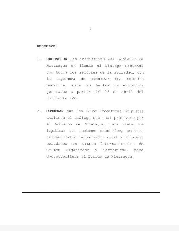 Nicaragua acusa a EEUU de injerencista